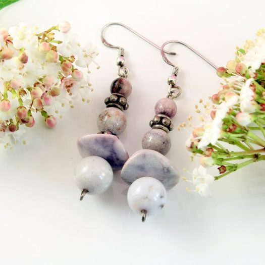 Crazy Lace Agate Earrings E-0121-g