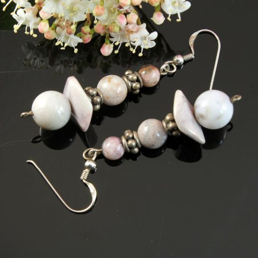 Crazy Lace Agate Earrings E-0121-h