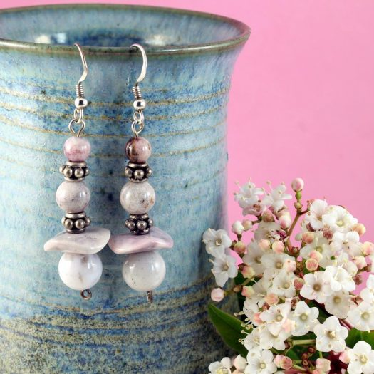 Crazy Lace Agate Earrings E-0121-i
