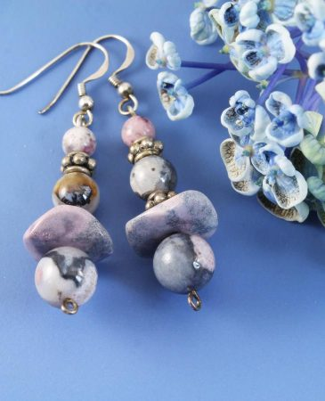 Crazy Lace Agate Earrings E-0142-a