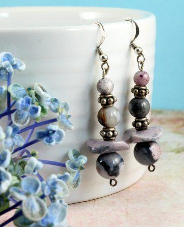Crazy Lace Agate Earrings E-0142-i