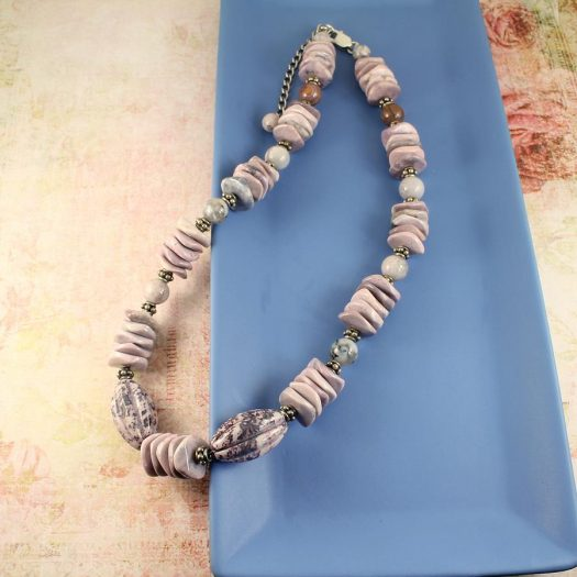 Crazy Lace Agate Necklace N-0124-a