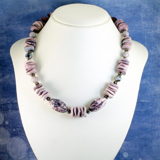 Crazy Lace Agate Necklace N-0124-c