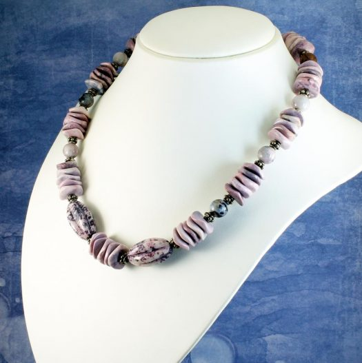 Crazy Lace Agate Necklace N-0124-e