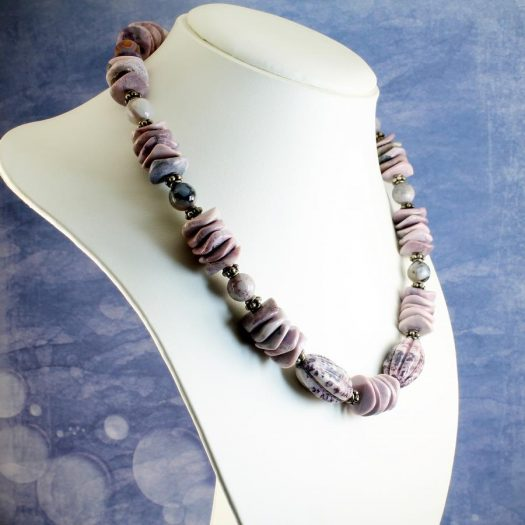 Crazy Lace Agate Necklace N-0124-g