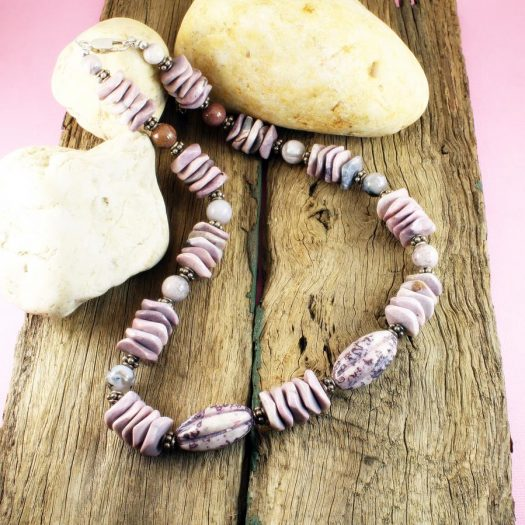 Crazy Lace Agate Necklace N-0124-i