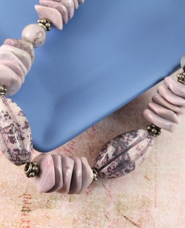 Crazy Lace Agate Necklace N-0124-l