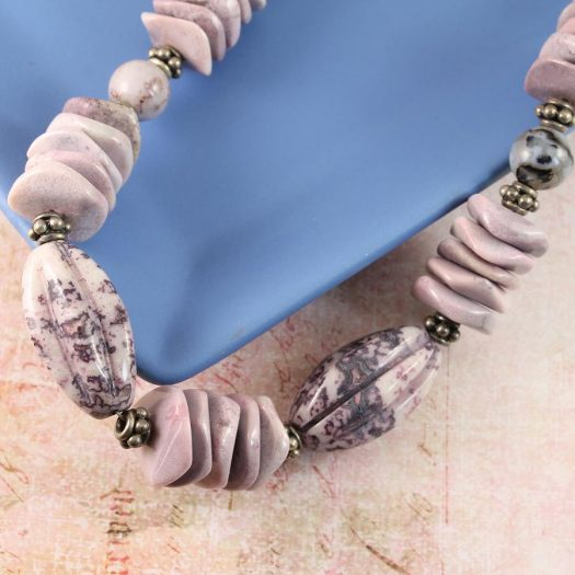 Crazy Lace Agate Necklace N-0124-l