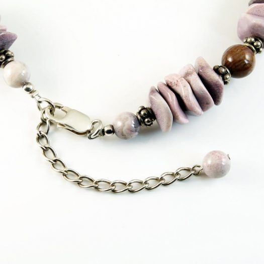 Crazy Lace Agate Necklace N-0124-m
