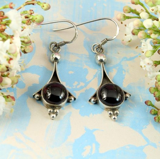 Garnet Drop Earrings E-0188-c