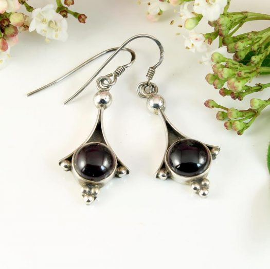 Garnet Drop Earrings E-0188-e