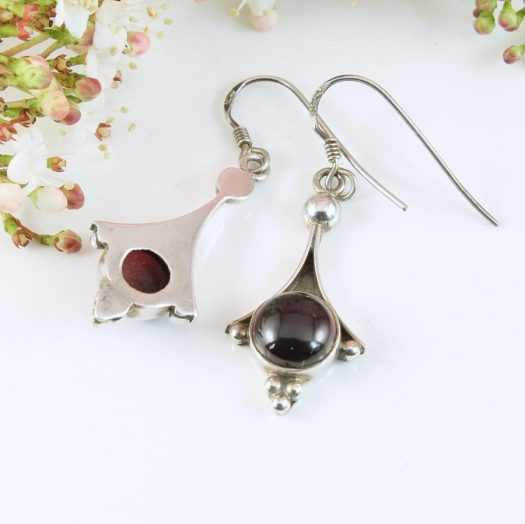 Garnet Drop Earrings E-0188-i