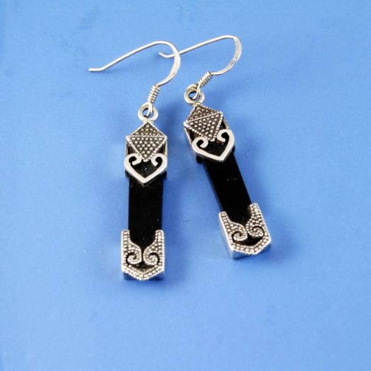 Onyx Celtic Earrings E-0141-a