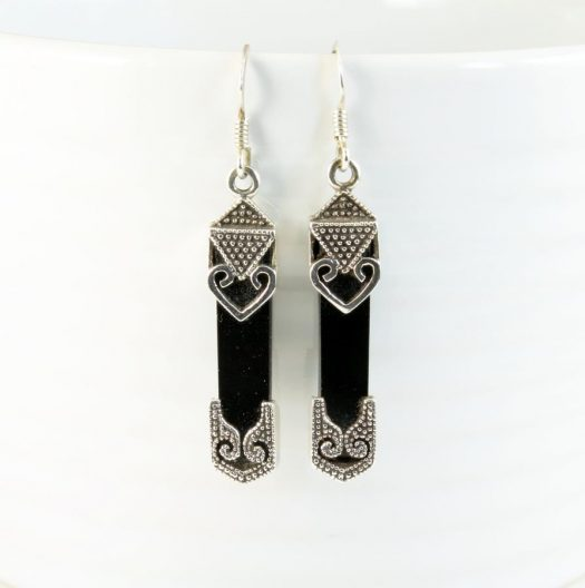 Onyx Celtic Earrings E-0141-b