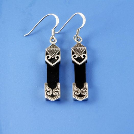 Onyx Celtic Earrings E-0141-c