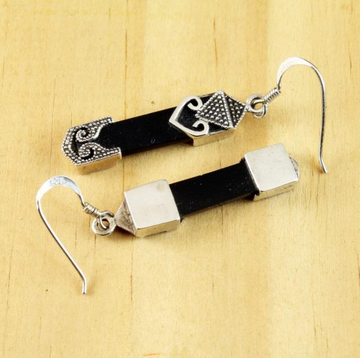 Onyx Celtic Earrings E-0141-h