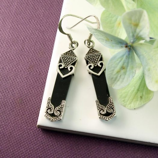 Onyx Celtic Earrings E-0141-i