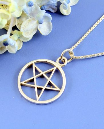 Pentacle Silver Pendant N-0235-a