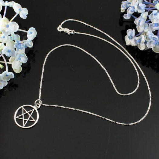 Pentacle Silver Pendant N-0235-b