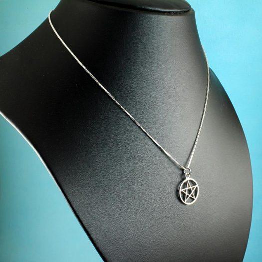 Pentacle Silver Pendant N-0235-e