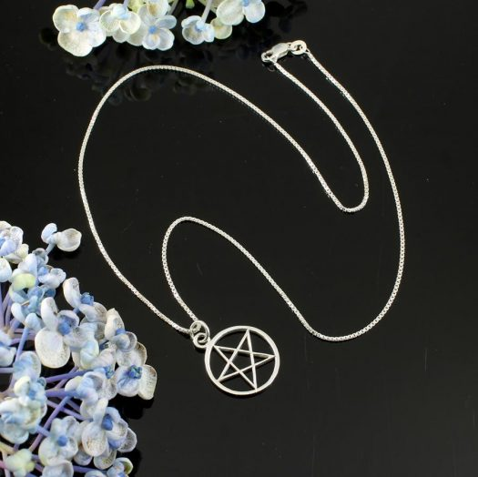 Pentacle Silver Pendant N-0235-f