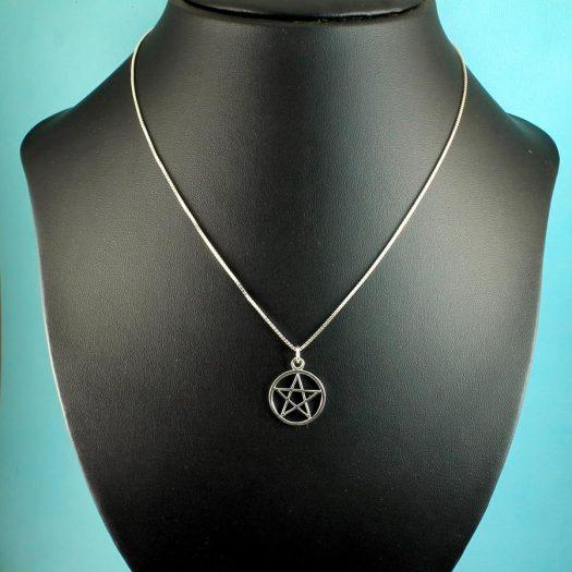 Pentacle Silver Pendant N-0235-g