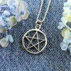 Pentacle Silver Pendant N-0235-j