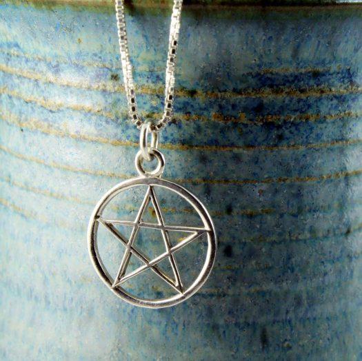 Pentacle Silver Pendant N-0235-k