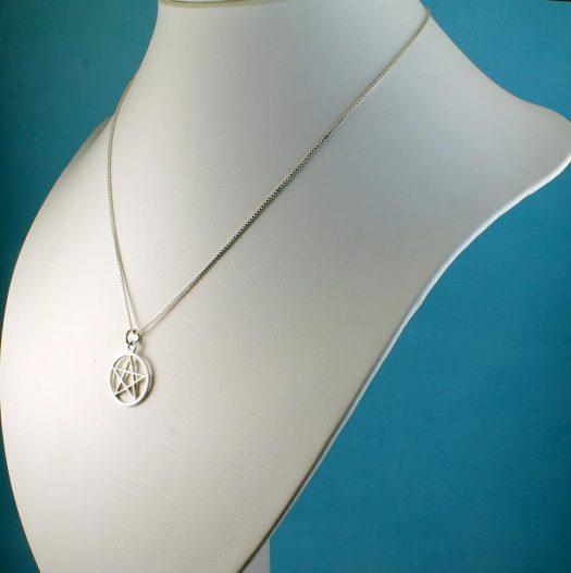 Pentacle Silver Pendant N-0235-l
