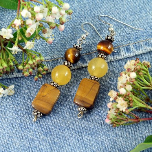 Tiger's Eye Earrings E-0117-a