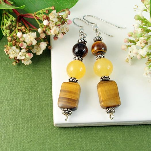 Tiger's Eye Earrings E-0117-b