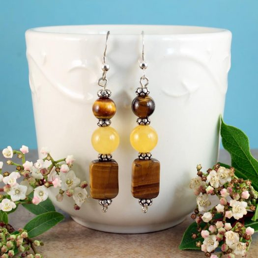Tiger's Eye Earrings E-0117-c