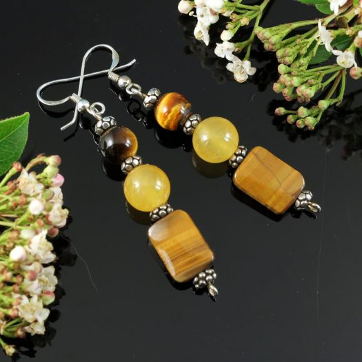 Tiger's Eye Earrings E-0117-d