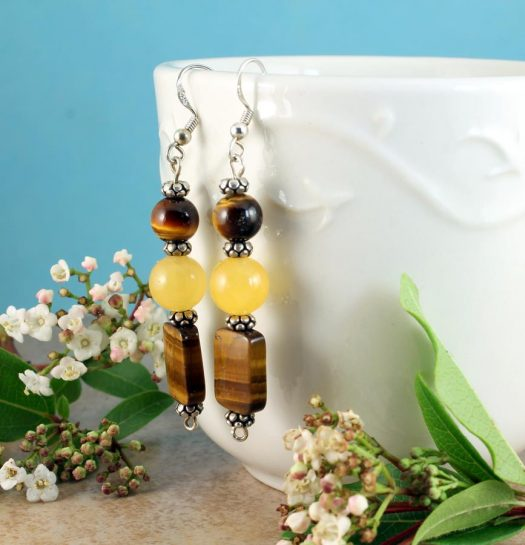 Tiger's Eye Earrings E-0117-e