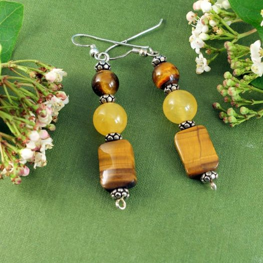 Tiger's Eye Earrings E-0117-f