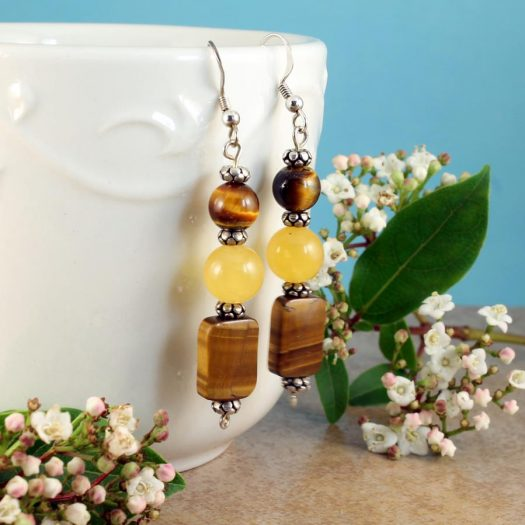 Tiger's Eye Earrings E-0117-g