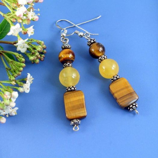 Tiger's Eye Earrings E-0117-h