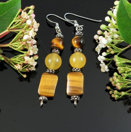 Tiger's Eye Earrings E-0117-i