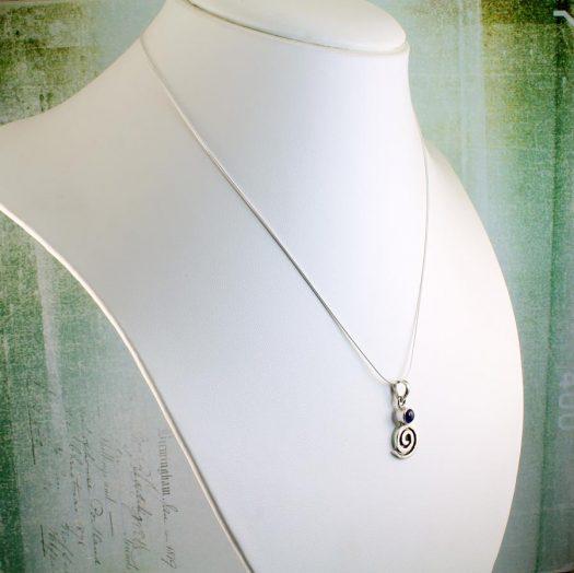 Amethyst & Silver Spiral N-0227-g