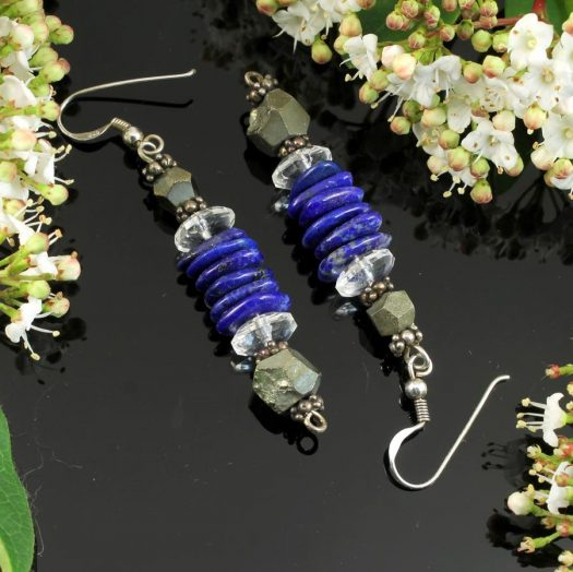 Lapis & Pyrite Earrings E-0136-g