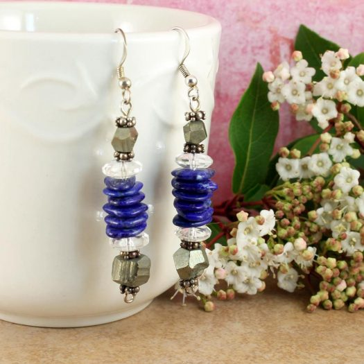 Lapis & Pyrite Earrings E-0136-i