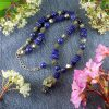 Lapis & Pyrite Necklace N-0123-k