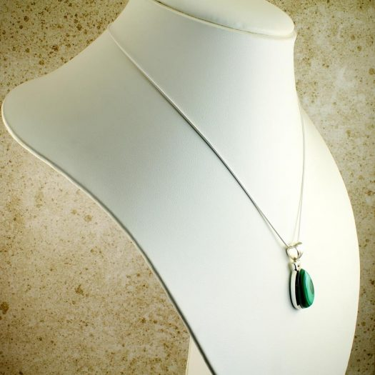Malachite Teardrop Necklace N-0191-b