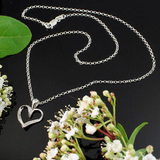 Silver & CZ Pendant N-0190-a