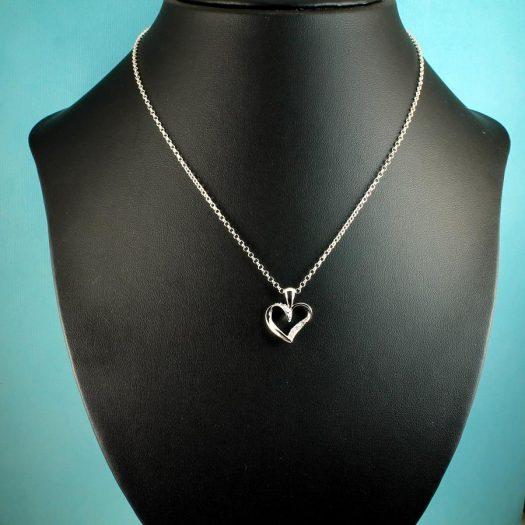 Silver & CZ Pendant N-0190-b