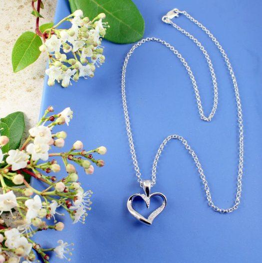 Silver & CZ Pendant N-0190-c
