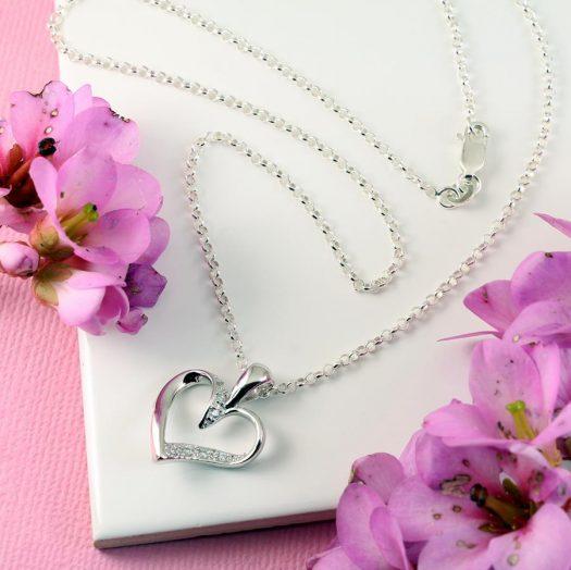 Silver & CZ Pendant N-0190-g