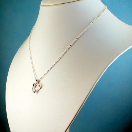 Silver & CZ Pendant N-0190-h