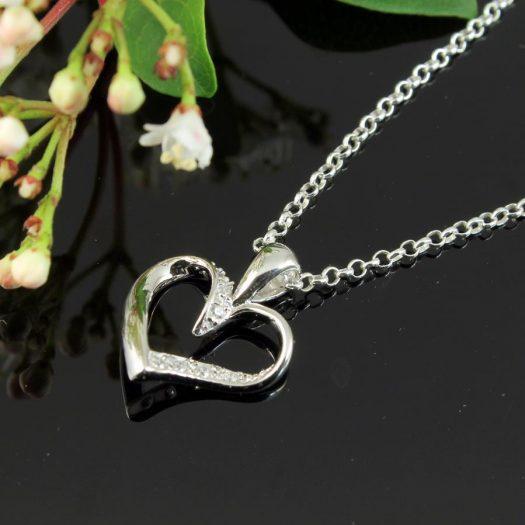 Silver & CZ Pendant N-0190-i