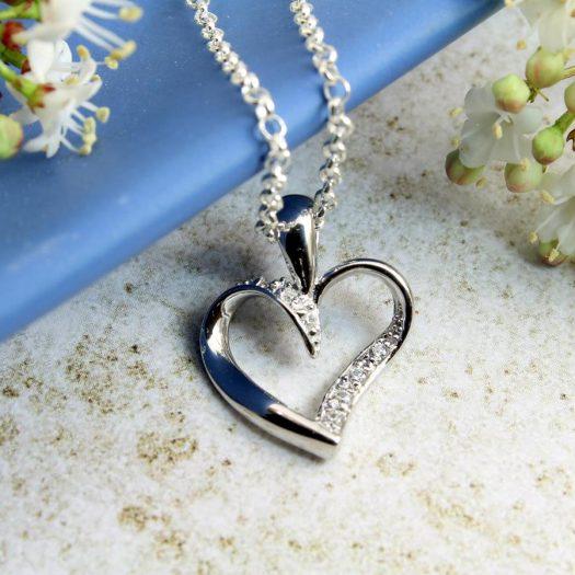 Silver & CZ Pendant N-0190-j